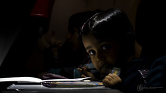 Light and Shadow (Fazar Photography) Tags: light shadow child eyes coloring crayons play insideflight kl