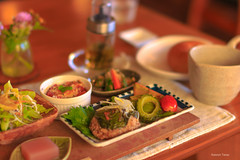 nagi A   (^^Teraon) Tags: japan nara    nagi  meal  restaurant restaurante garden cafe gardencafe canon eos m2 eosm2 sigma50mmf14exdg bokeh