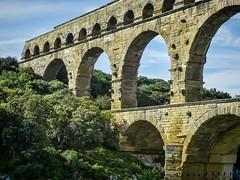 The Arches of the Pont du Gard near Nimes, France Roman 1st century CE (mharrsch) Tags: arch aqueduct architecture engineering roman bridge unesco pontdugard france ancient mharrsch