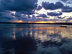 Cumulus, Sunset and Reflections (Richard Bougeard) Tags: jersey weather