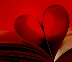 red heart (tugboat1952) Tags: abstract redheart heartshape book pages tugboat1952