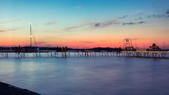 Madison Sunset Sky Colors (redfurwolf) Tags: madison wisconsin lake mendota usa sunset sky color water longexposure boat redfurwolf sony rx100m4 smooth