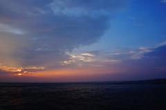dusk, take me (Hal Skygene) Tags: dusk sun sunset sky ray blue orange colors sea shore lighthouse asia asian japan cloud marine maritime outdoor nature waves colour landscape