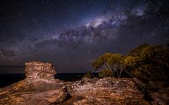 Pulpit Rock & The Milky Way I (nikabuz) Tags: australia bluemountains nsw nikond750 samyang14mmf28 astrophotography milkyway nightphotography stars