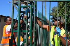 Kennedy17 (Genova citt digitale) Tags: richiedenti asilo genova piazzale kennedy agosto 2016 volontari nigeria lavoro ilva