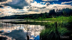 Miror Lake. (Jean McLane) Tags: reflects reflets reflejos lakeview lake landscape water clouds cloudy blue green