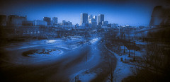 TO THE CITY OF LIGHT (photrob43) Tags: illumination city snowbluish leading light cool