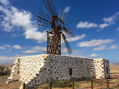 Small Windmill (bindermichi) Tags: summer spain fuerteventura island vacation 2016 canaryislands travel iphone
