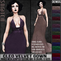 Sn@tch Cleo Velvet Gown Vendor Ad LG (Tess-Ivey Deschanel) Tags: sntch snatch secondlife sl second sexy style specials new newrelease newreleases summer costumes latex lingerie clothing clothes clubwear cyberpunk corset couture fashion fatpack fall mesh model meshclothing meshclothes models iveydeschanel ivey ihearts omegasystem outfits omega omegaappliers