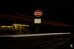 236/366 - DQ and DBQ Trolley (sdgiere) Tags: dairyqueen dubuque iowa afterdark trolleysofdubuque trolley longexposure movement light perspective