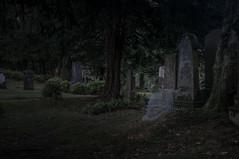 Found (Johnny_7) Tags: girl night old cemetery dark ghost headstone graveyard death grave spirit presence phantom spectre apparition haunting