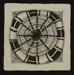 no 5 circle string (aaspforswestin) Tags: zentangle tanglepattern pattern string circles freehand challenge