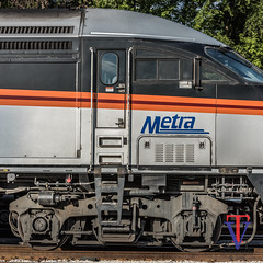 Side View (photo-engraver1) Tags: metra mp36 foxlake railroad train transportation trainspotting locomotive