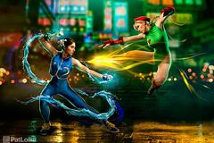 Chun Li vs. Cammy (PatLoika) Tags: chunli streetfighter streetfighter2 cammy videogames capcom cosplay videogamecosplay digitalart cosplayphotography