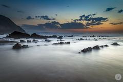 Silk sea (jdelrivero) Tags: sunset atardecer lugares playa elementos barrika espaa sea beach elements places puestadesol spain elexalde euskadi es