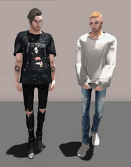ELEVEN (Levi Megadon // *OMG*) Tags: sl secondlife men mens male blogger blog look lotd outfit ideas stylish style fashion wear clothing clothes event tmd themensdept new mesh drot hair mandala piercing aitui fli tee shirt baggy loose street urban cool swag dope fresh speakeasy represent hoodie denim jeans pants destroyed ripped skinny fitted tight redgrave versov benjaminz scars knit sweater big sneaks sneakers hightop black yeezus yeezy