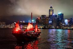 20160901-49-Hong Kong skyline at night (Roger T Wong) Tags: 2016 hongkong rogertwong sel2470z sony2470 sonya7ii sonyalpha7ii sonyfe2470mmf4zaosscarlzeissvariotessart sonyilce7m2 boat buidlings harbour illuminated junk lights night reflection skyline skyscrapers travel water