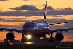 A330 taxiing at dawn (Artyom Anikeev) Tags: avia aviation airplane anikeev artyomanikeev planespotting spotting canon 5dmkiii plane sheremetyevo svo airliner uuee airbus a330 skyteam