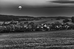 (Px4u by Team Cu29) Tags: mond wolken nacht himmel feld bahn bahngleis ortschaft hgel dachauerhinterland