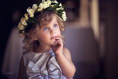 Little beauty in a flower crown. (www.sergeybidun.com) Tags: girl kid child flowergirlcute portrait studio