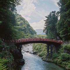 R1-10 -  (redefined0307) Tags: zenzabronicas2 zenzabronica mediumformat japan tochigi nikko bridge worldheritage architecture   fujifilmpro400h