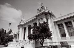 Exa 1C Riverside Court House () Tags: vintage retro classic film camera losangeles california riverside history west coast architcture eastgerman ddr gdr exa dresden slr 35mm black white bw kodak tmax m42