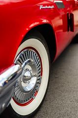 Strawberry and cream (GmanViz) Tags: gmanviz color car automobile detail nikon d7000 1957 ford thunderbird fender bumper wheel whitewall tire chrome