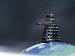 The Daleks have landed (Wouter de Bruijn) Tags: hasselblad 500cm zeiss sonnar 150mm extensiontube kodak kodakportra kodakportra160 portra160 film filmisnotdead filmphotography analog analogphotography mediumformat squareformat square 6x6 120 120film dalek doctorwho toy world topoftheworld alien invasion macro