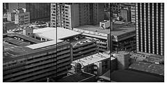 PAISAJE / Parking (ORANGUTANO / Aldo Fontana) Tags: chile regiónmetropolitana santiagodechile santiagocentro downtown city ciudad buildings edificios calles streets nikon nikond200 duotone duotono aldofontana orangutano flickr