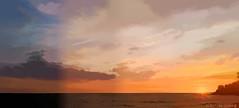 sunset carry 2. (coco de carry) Tags: sunsetpainting carrylerouet marine mer sea mditrrane cotebleu ciel soleil sun