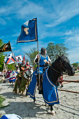 Knights of the old Republic (Johannes_wl) Tags: summer horses castle sand flag medieval tournament knights rider strider tourney slott hovdala