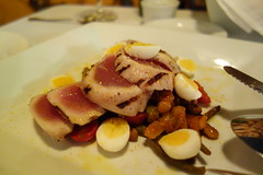 Tuna, Pickled Quail Egg, Tomatoes, Peppers - Dinner at A Mano - New Orleans, LA - Warehouse District (Paul Broussard NOLA) Tags: neworleans restaurants warehousedistrict tuna amano italiancuisine quailegg maurepasfoods paulbroussard