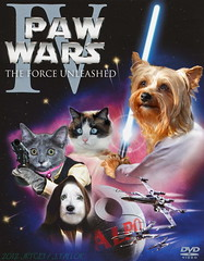 Paw Wars (jrtce1) Tags: dog silly cat photoshop fun starwars hilarious funny fighter space humor lucasfilm fantasy princessleia scifi photomontage xwing sciencefiction lightsaber yorkshireterrier ragdoll deathstar obiwankenobi georgelucas hanssolo alpo starwarsanewhope likeskywalker jrtce1 starwarsepisode4