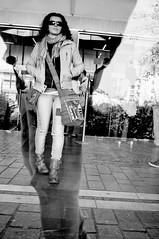 ... (ruggeroranzani) Tags: people woman reflection monochrome myself donna streetphotography railwaystation vetrina mestre riflessi stazione blackwhitephoto blackwhitephotos nikond300