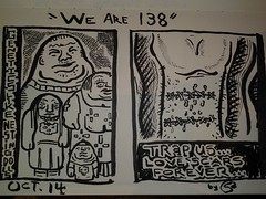 """We are 138"" (sixchamberedheart) Tags: art ink sketchbook comicstrip weare138 dailystrip"