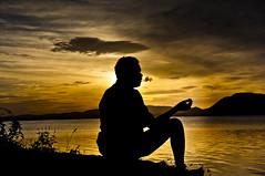 smo[king]... (dinesh.I) Tags: people lake silhouette nikon smoke smoking tamilnadu southindia cwc chengalpet nikond90 chennaiweekendclickers dineshi kolavai kolavailake dineshbabui din3shphotography dineshphotography
