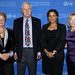 Gro Brundtland, Ted Turner, Angela Mwanza, and Kathy Calvin