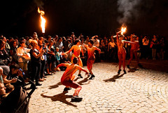 Dancers in Torchlight