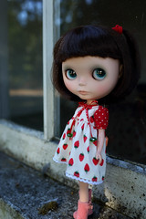 A window into the past (jessi.bryan) Tags: doll blythe ebl fancypansy wingsinflight vainilladolly vainilladollycustom vainilladollyblythe