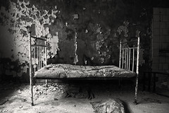 Chernobyl's Atomic Legacy  Explore #8 (Subversive Photography) Tags: hospital book bed mood radiation atmosphere nuclear explore disaster radioactive atomic symbolic chernobyl lonley profound pripyat danielbarter chernobylsatomiclegacy