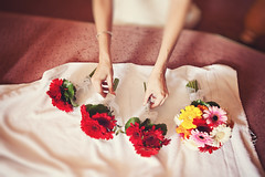 Bouquets for the special Day (Yuliya Bahr) Tags: morning flowers wedding red bride hands soft softness bouquet redflowers bridalbouquet bridalmorning