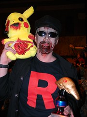 Team Rocket won 2nd place Best Male Costume! (Morganthorn) Tags: costumes halloween alexandria fun october louisiana play cosplay zombie walk makeup pikachu pokemon zombies deadgirl zombiewalk umbrellacorporation cenla zombiewalk2012