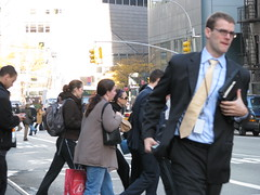 rushing down Lexington Ave (Dan_DC) Tags: street nyc newyorkcity people motion money work outdoors corporate glasses movement glamour employment manhattan candid laptop stock culture midtown business suit company license vip editorial copyspace wallstreet executive job economy crowds bustle glamor branding onthemove cultural brands rf finance fon humaninterest imagebank glamorous lexingtonavenue occupation privilege streetlevel bustling royaltyfree urbanscene manrunning jostling executie flatfee financialsystem culturalsignificance laboremployment urbanbest