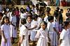 standing children (peoplebino2012) Tags: school girls india female children asian student south crowd innocent busy only schools ethnic schooluniform groups inuniform groupof karnatakastate odanadi