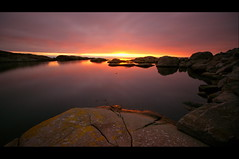 The Beginning Of The End... (Minkn) Tags: world ocean sunset red sea sky sun seascape color reflection nature water norway spectacular landscape norge scenery rocks heaven colours sundown sony sigma norwegian beginning filter scenary stunning end arne per 1020 yello rogaland the of nd110 scenicsnotjustlandscapes minkn