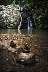 unicorn falls (cp991) Tags: brown green creek landscape waterfall rainforest moody stones australia falls unicorn stonestacks cameronpitcherphotography cp991