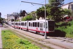 1996-2001 Breda LRV #1495 (busdude) Tags: sf light san francisco rail railway muni vehicle breda municipal lrv