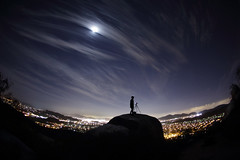 blue rock (It was the light, it was the angle) Tags: california ca camera sky selfportrait silhouette night clouds canon stars timelapse suburban tripod suburbia astro fisheye passion flashlight 15mm santee poler bluerock jeffmorris 102312 itwasthelight 5d3 polerstuff