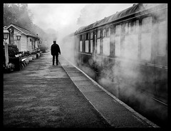 Grosmont Station . (wayman2011) Tags: bw trains northyorkshire grosmont nymr