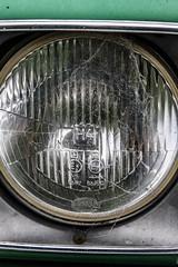 Car Headlights (German Democratic Revolution Arts) Tags: auto old green car lights lampe australia tasmania australien grn carheadlights scheinwerfer